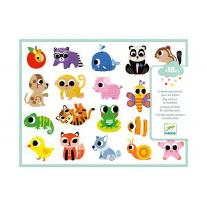 Djeco - DJ09084 - Stickers des petits - Bébés animaux (408972)