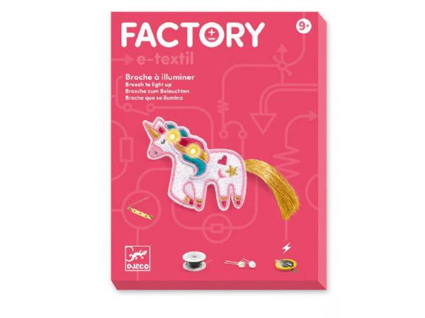 Factory - e-textil - broche - sweet licorne