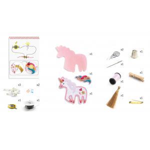Djeco - DJ09321 - Factory - E-textil - Broche - Sweet licorne (409010)