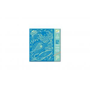 Djeco - DJ09729 - Cartes à gratter  - Sea life (409076)