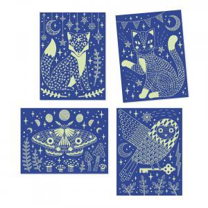Djeco - DJ09735 - Cartes à gratter  - Dans la nuit (409078)