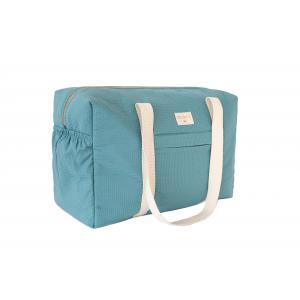 Nobodinoz - N110646 - Sac de maternité Opéra en coton bio 29x46x20 cm magic green (409228)