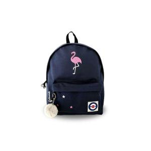 Lacocarde - GM-DARKBLUE-FLAMANT-ROSE - Sac à dos grand modèle darkblue flamant rose (409292)