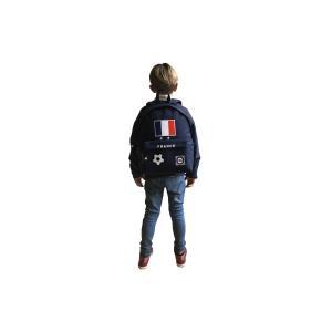 Lacocarde - GM-DARKBLUE-DRAP-FR - Sac à dos grand modèle darkblue drapeau français (409302)