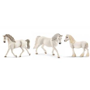 Schleich - bu013 - Figurines de chevaux Jument blanch (Holstein, Lipizzan, Shire) (410432)