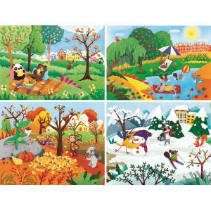 Clementoni - 21408 - Puzzle enfants 20+60+100+180 Pièces - Les 4 saisons (410536)