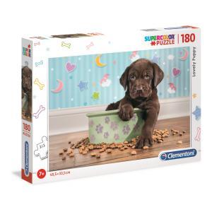 Clementoni - 29754 - Puzzle 180 pièces - Chiot et ses croquettes- Photo (410570)