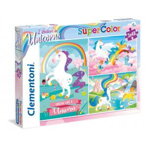 Clementoni - 25231 - Puzzle 2x48 pièces - Licornes (410672)