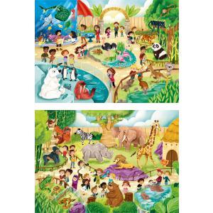 Clementoni - 21603 - Puzzle 2x60 pièces - Au zoo (Bx2) (410684)