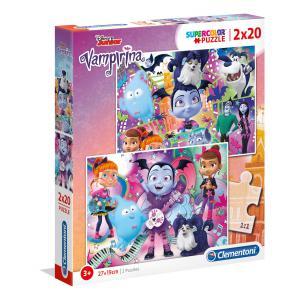 Clementoni - 07033 - Puzzle 2x20 pièces - Vampirina (Ax1) (410712)