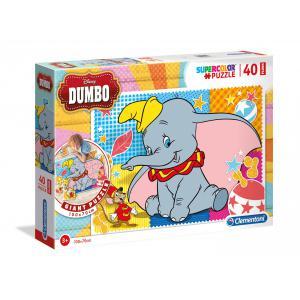Clementoni - 25461 - Puzzle Puzzle de sol 40 pièces - Dumbo (Ax2) (410724)
