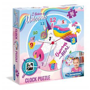 Clementoni - 23035 - Puzzle Clock - Licornes (410804)