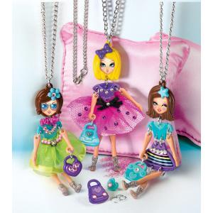Clementoni - 15222 - Crazy Chic Pendentifs poupées - Charm dolls (410888)
