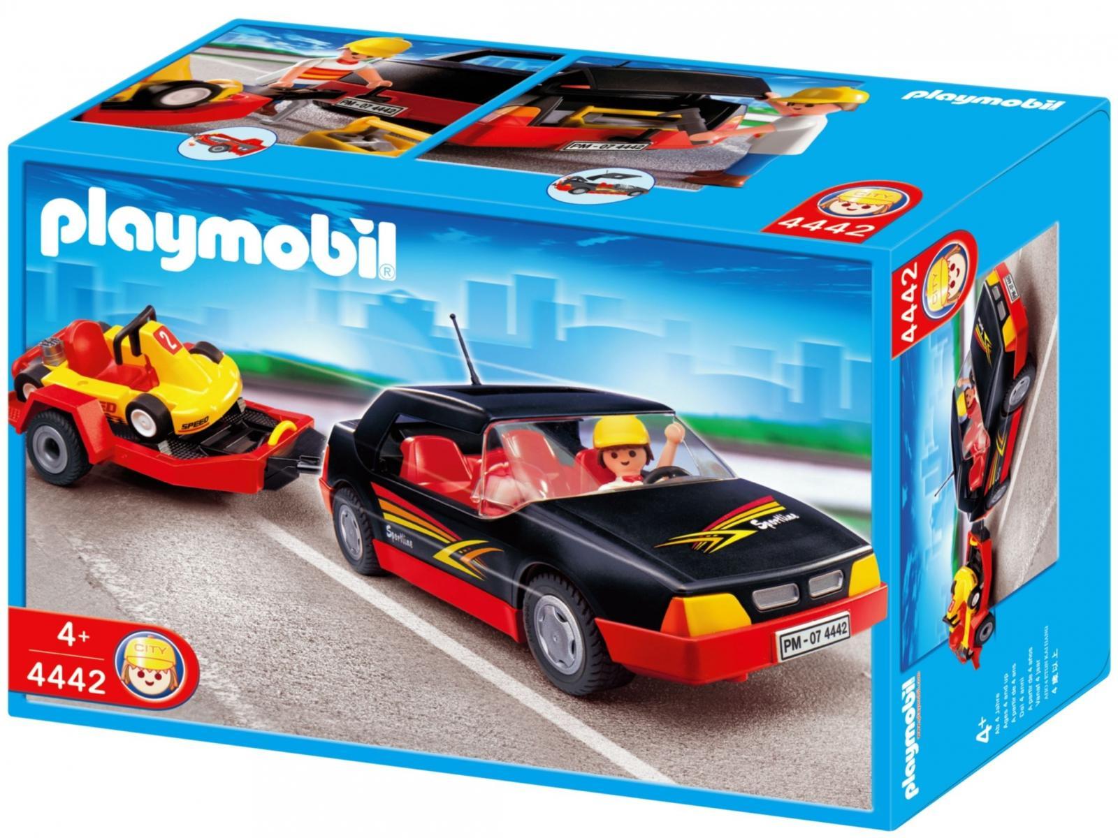 Playmobil voiture de sport avec kart 4442 - Voiture tuning playmobil ...