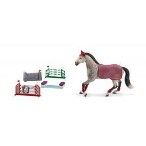 Schleich - bu022 - Figurines de chevaux et Parcours de saut d'obstacles (Jument ) (411924)