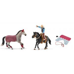 Schleich - bu023 - Figurines de chevaux et accessoires (Jument, Hannah) (411926)