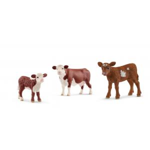 Schleich - bu028 - Figurines Animaux de la ferme Vach et Veau (411936)