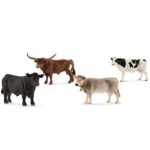 Schleich - bu029 - FigurinesAnimaux de la ferme Vaches, Taureaux (411938)