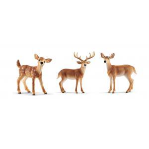 Schleich - bu030 - Figurines Animaux sauvages (Biche, Cerf, Faon) (411940)