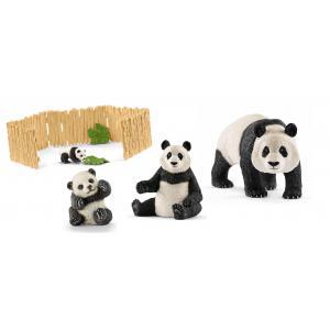Schleich - bu042 - Figurines Animaux sauvages panda et Enclos à pandas (411964)