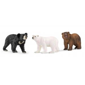 Schleich - bu043 - Figurines Animaux sauvages ours (polaire, lippu, Grizzly) (411966)