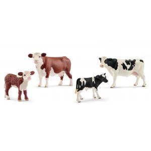 Schleich - bu044 - Figurines Animaux de la ferme (Veaux et Vaches) (411968)