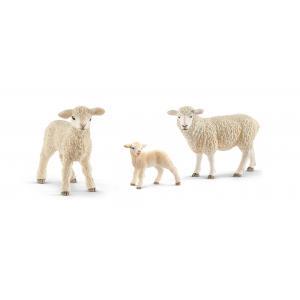 Schleich - bu047 - Figurines Animaux de la ferme Agneaux (411974)