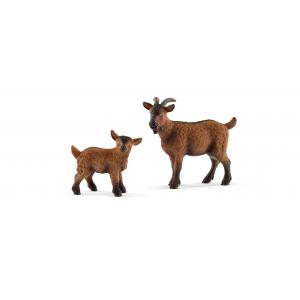 Schleich - bu048 - Figurines Animaux de la ferme Chevreaux (411976)