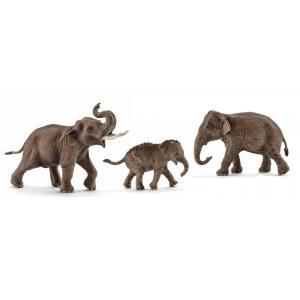Schleich - bu053 - Figurines Animaux sauvages Éléphanteaux d'Asie (411986)