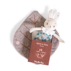 Moulin Roty - 715026 - Petit lapin Mousse Après la pluie (412238)