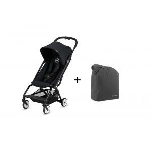 Cybex - BU219 - Poussette Eezy S noir + travel bag (412462)