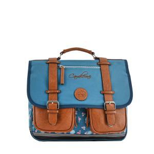 Caméléon - VIG-CA38-05Z - Cartable 38 cm  2 compartiments - Modèle BLUE FLAMINGO - Ligne Vintage print girl (412670)