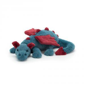 Jellycat - DEX1DDL - Peluche dragon Dexter - L = 15 cm x l = 56 cm x H =19 cm (413002)
