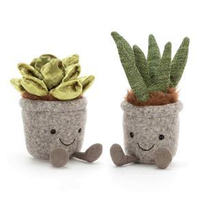 Jellycat - SS6A - Peluche plante aloe Silly Succulent - L = 5 cm x l = 6 cm x H =20 cm (413152)