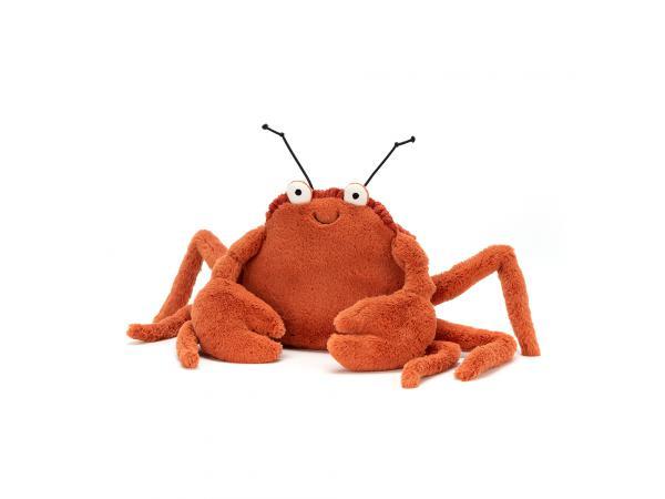 Peluche crabe crispin - l = 7 cm x l = 12 cm x h =11 cm