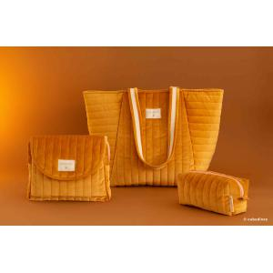 Nobodinoz - N111902 - Sac maternité Savanna velours Farniente yellow (413432)