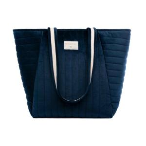 Nobodinoz - N111896 - Sac maternité Savanna velours Night blue (413438)