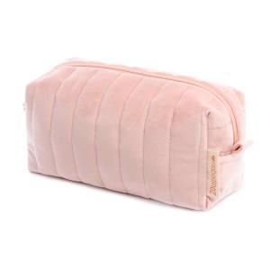 Nobodinoz - N112060 - Trousse de toilette  Savanna velours Bloom pink (413440)