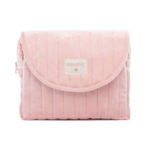 Nobodinoz - N111964 - Trousse de toilette  Savanna velours Bloom pink (413450)