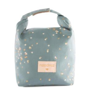 Nobodinoz - N111582 - Sac goûter éco Too cool Gold confetti magic green (413564)