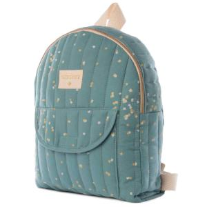 Nobodinoz - N111704 - Sac à dos enfant Too Cool Gold confetti magic green (413566)