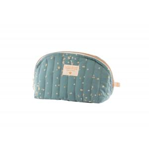 Nobodinoz - N111278 - Trousse de toilette Holiday large Gold confetti magic green (413574)