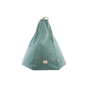 Nobodinoz - N111353 - Pouf Marrakech GOLD CONFETTI/ MAGIC GREEN (413608)