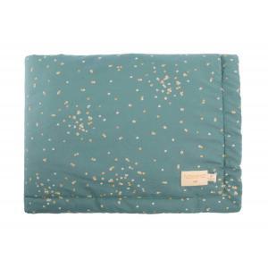 Nobodinoz - N111384 - Couverture Laponia bébé Gold confetti magic green (413614)