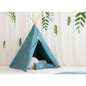 Nobodinoz - N111452 - Teepee Phoenix Gold confetti magic green (413628)