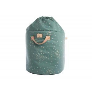 Nobodinoz - N111520 - Sac à jouets Bamboo GOLD CONFETTI/ MAGIC GREEN (413632)