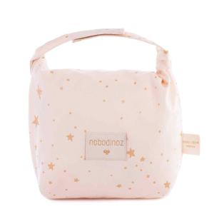 Nobodinoz - N111018 - Sac goûter éco Too cool Gold stella/ dream pink (413656)