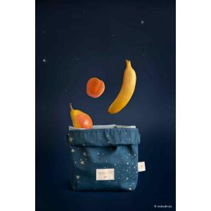 Nobodinoz - N111025 - Sac goûter éco Too cool Gold stella/ night blue (413658)
