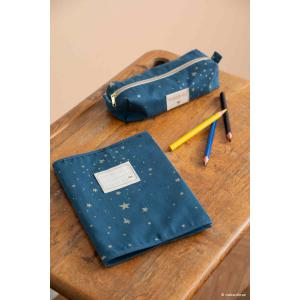 Nobodinoz - N111063 - Trousse à crayons Too Cool Gold stella/ night blue (413666)