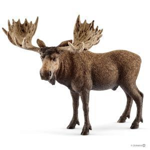 Schleich - bu054 - Figurines animaux sauvages (cerfs, biches, élans, faon) (413970)
